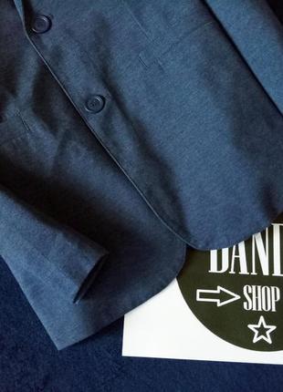 Лляной пиджак с налокотниками ф. house, размер м-l4 фото