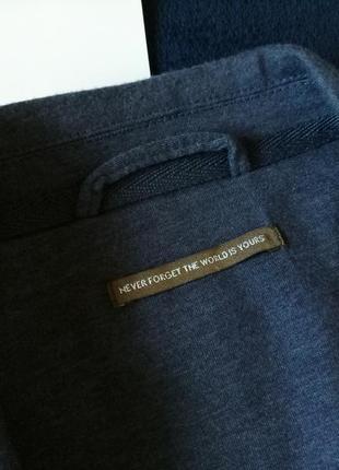 Лляной пиджак с налокотниками ф. house, размер м-l3 фото