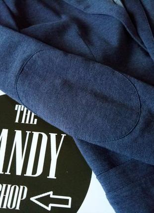 Лляной пиджак с налокотниками ф. house, размер м-l5 фото