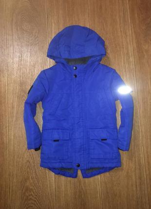 Теплая деми парка, куртка rebel, указано 4-5 лет