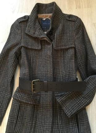 Пальто шерстяное в стиле милитари
