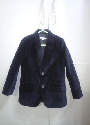 Стильный пиджак велюр бархат мальчику john lewis, 5-6 лет
