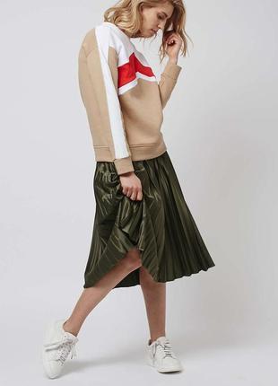 🌿 миди юбка плиссе цвета хаки от tu