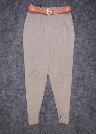 Классические брюки с высокой талией! цвет серый бренд la vie