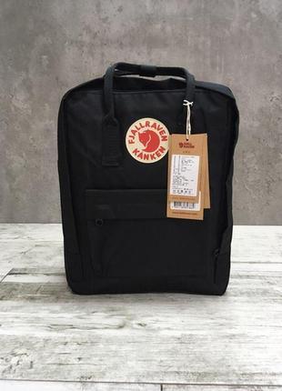 Женский чёрный рюкзак fjall raven black 16л.