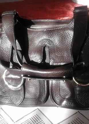 Кожаная сумка karen millen. оригинал. англия.