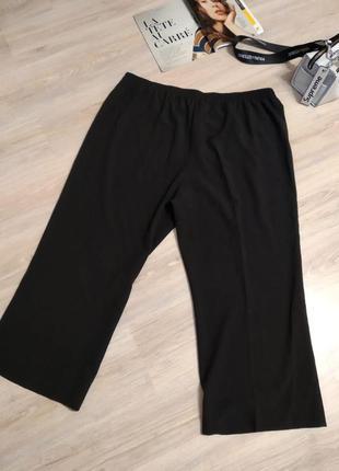 Отличные стильные классические черные брюки штаны прямые большого размера1 фото