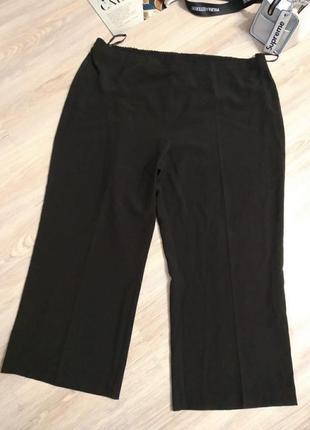 Отличные стильные классические черные брюки штаны прямые большого размера2 фото