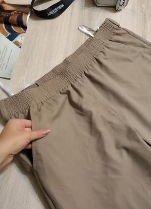 Отличные брэндовые стильные классические брюки штаны прямые большого размера5 фото