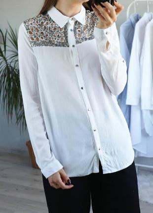 Красивая блуза, рубашка с бисером