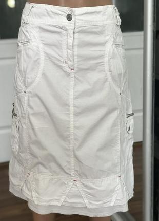 Хорошая белая юбка спортивного кроя2 фото