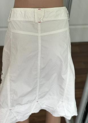 Хорошая белая юбка спортивного кроя3 фото