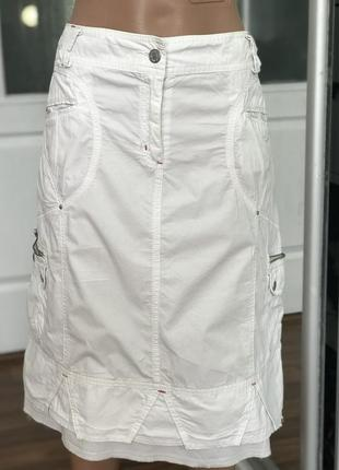 Хорошая белая юбка спортивного кроя4 фото