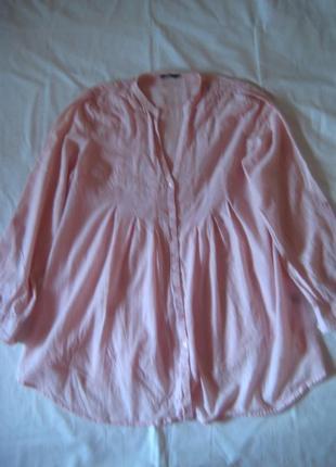 Легкая хлопковая рубашка блуза, оверсайз