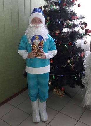 Костюм карнавальный новогодний 7-10 лет морозко новый год