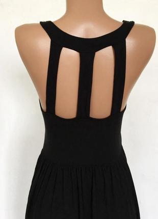 Красивое стильное черно платье в пол размер s-m3 фото