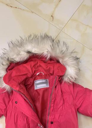 Теплый пуховик пальто