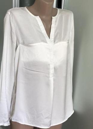 Белая белоснежная блузка блуза рубашка зара zara