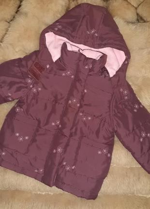 Тепленькая куртка на флисе