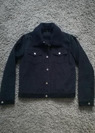 Куртка с мехом,вельветова