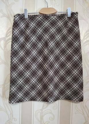 Шерстяная теплая юбка, 100% шерсть. турция.