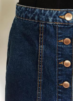 Стильная джинсовая юбка цвет синий размер xs-s2 фото