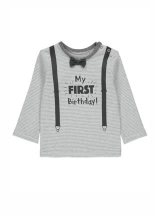 Реглан george first birthday 9-12 мес/74-80