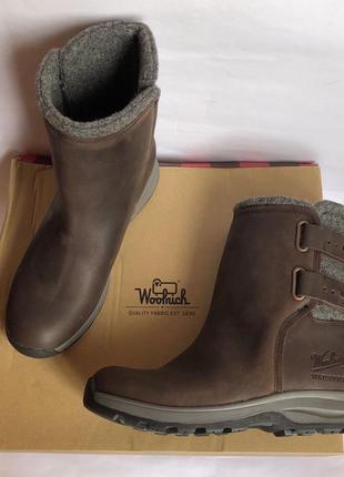 Зимние кожаные ботинки woolrich 40р оригинал timberland8 фото