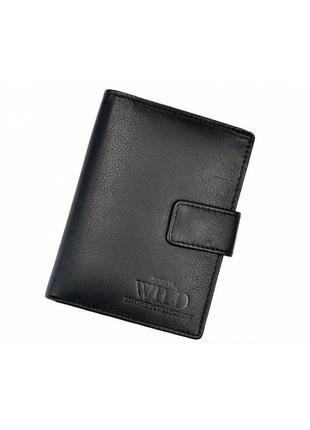 Мужской кожаный кошелек wild d1072l-ccf