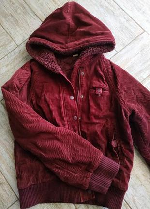 Вельветовая куртка-бомбер