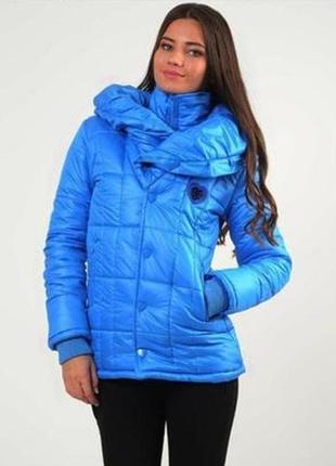 Шикарная теплая куртка madoc на холодный деми