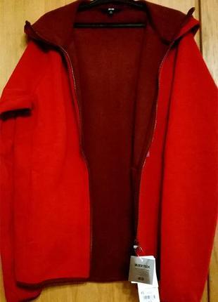 Uniqlo fleecejacke kapuze blocktech куртка