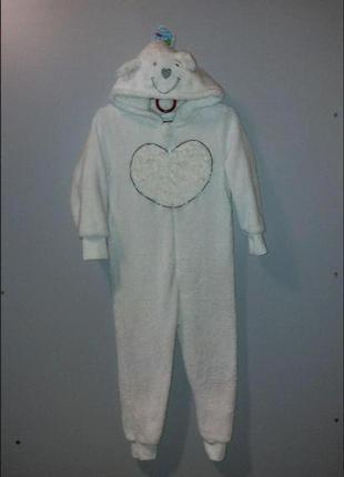 Кигуруми слип пижама белый мишка 4-5л yd
