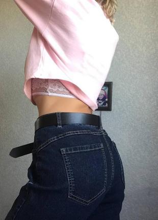 Новые джинсы мом бойфренды l xl тёмные