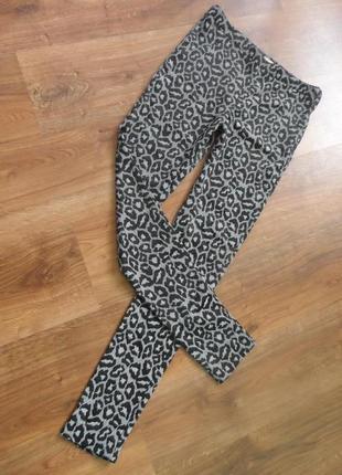 Брендовые леопардовые брючные лосины