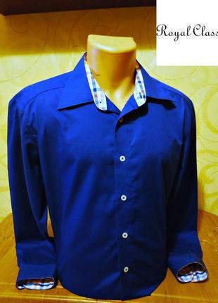 Рубашка от royal class, оригинал р.l slim fit