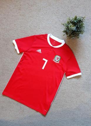 Мужская домашняя игровая футболка adidas сборной уэльса  18/19 will vaulks