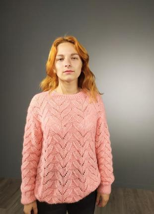 Теплый свитер (лама+кид мохер)