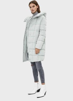 Пальто пуховик куртка bershka