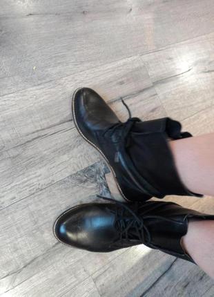 Кожаные  ботинки  pier one рр 38