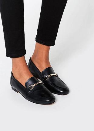 Натуральные кожаные туфли лоферы балетки асос asos