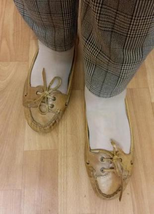 Мокасины, балетки, туфли из натуральной кожи.