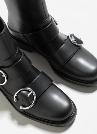 Демисезонные новые ботинки mango оригинал р.38