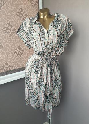 Новое платье из натуральной ткани reserved