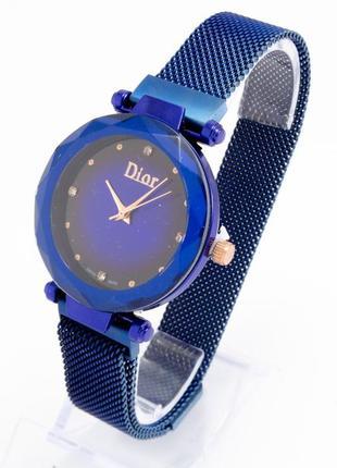 Часы в синем цвете в подарочной коробке