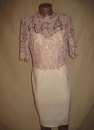 Платье с кружевом paper dolls р-р10,