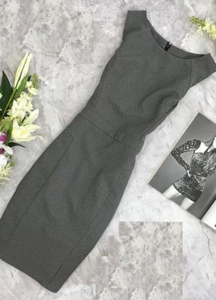 Идеальное офисное по фигуре платье футляр из костюмной ткани wallis