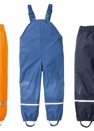 Непромокаемые штаны на флисе дождевик lupilu