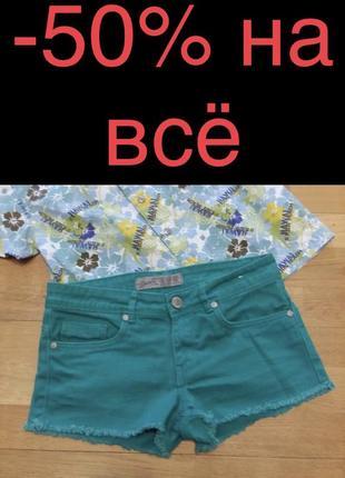 Стильные яркие прикольные шорты denim&co 6 размер
