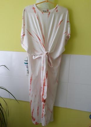 Длинное платье с узлом от zara